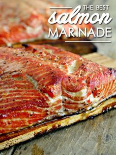 The best salmon marinade you'll ever taste!  BBQ & Smoker Recipes Project Difficulty: Medium MaritimeVintage.com