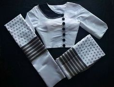 Collection Kids Blouse Designs, Saree Blouse Neck Designs, Simple Blouse Designs, Stylish Blouse Design, Traditional Dresses Designs, Myanmar Dress Design, Designer Blouse Patterns, Saree Jackets, Siri