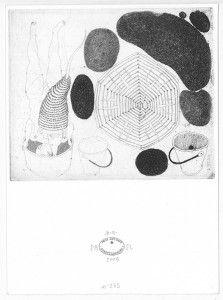Sin título No. 265. 2009. Aguafuerte. P/A. 17 x 12 cm