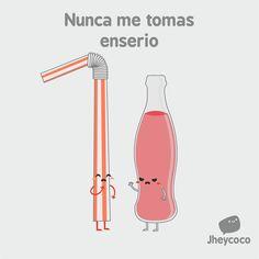 Nunca me tomas. Funny Cartoon Images, Cartoon Memes, Funny Cartoons, Funny Pictures, Spanish Jokes, Spanish Lessons, Punny Puns, Clean Jokes, Some Jokes