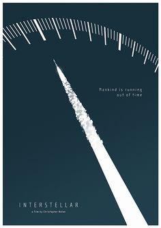 'Interstellar' (2014) by Christopher Nolan Fan made poster Hamilton Watch