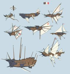 Flying ship 飛行船 design