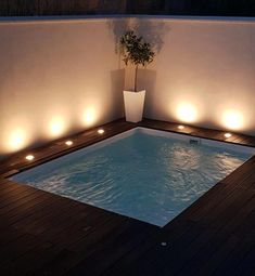 Piscina Swim-Spa Piscine et Jacuzzi Small Swimming Pools, Small Backyard Pools, Backyard Pool Designs, Small Pools, Swimming Pools Backyard, Swimming Pool Designs, Pool Landscaping, Backyard Patio, Pool Spa
