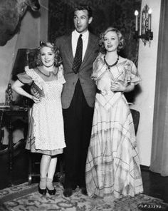 Mary Pickford, Gary Cooper & Marion Davies.