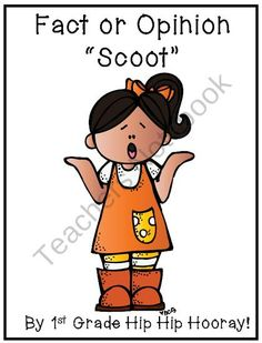 Common Core Writing...Fact or Opinion Scoot from First Grade Hip Hip Hooray on TeachersNotebook.com (10 pages)