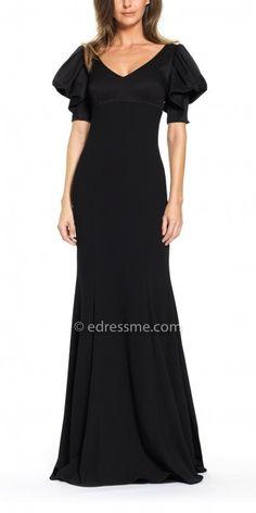 edd53559 David Meister Short Puff Sleeve Crepe Trumpet Dress, #ad Mob Dresses,  Homecoming Dresses