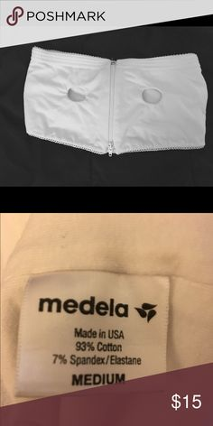 Medela hands free bra Medela hands free bra is great for breast pumping especially if you're busy on the go! Size medium, 93% cotton 7% spandex. Medela Other