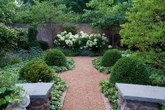 Symmetrie in een kleine tuin