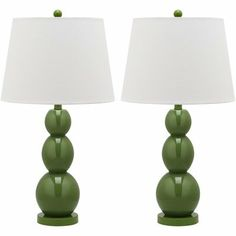 Safavieh Lighting Collection Jayne Three Sphere Glass Table Lamp, Fern Green, Set of 2 Glass Table Lamp, Lighting Collections, Table Lamp Sets, Glass Table, Lamp, Energy Efficient Light Bulbs, Bulb, Lamp Sets, Glass Lamp