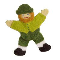 Leprechaun Pin For showin' of the green on St. Patrick's Day, gather scraps of felt to make a fun no-sew leprechaun.