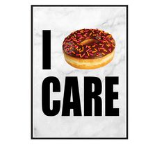 Poster A4 21x30cm i donut care