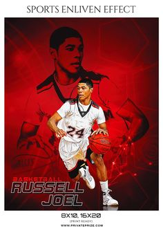 RUSSELL JOEL Basketball - Sports Photography Photoshop Template