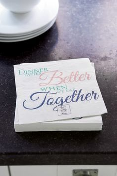 Paper Napkin Together