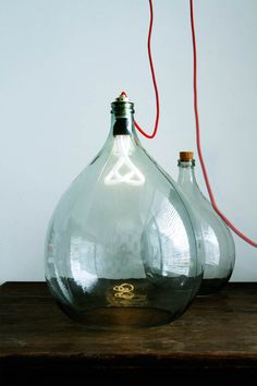 fixtures /// light + red + glass + lamp + oversized bulb + red cord