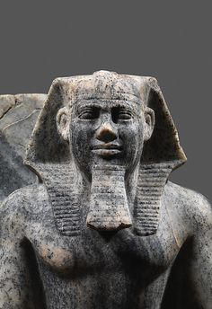 Gneiss group statue of the King Sahure and a Nome god. Detail. Old Kingdom. 5th dynasty, c. 2458-2446 B.C.  | The Metropolitan Museum