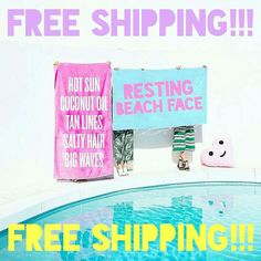 LABOR DAY SALE! FREE SHIPPING!   OVERSIZED #BEACH TOWELS!!!  Our fun and fresh oversized #beachtowels are making waves this #summer! These are huge! Five fun designs for you to rock while getting your surf on! . . . . . #beachtowel #oversized #beachtowels #freedom  #beachlife #poolside #wanderlust #escape #labordayweekend #surf #travel #independenceday #coconutoil #lake #lakelife #lakeliving #rbf #saltyhair #labordaysale #restingbeachface #restingbitchface #beachhair #beachhairdontcare…