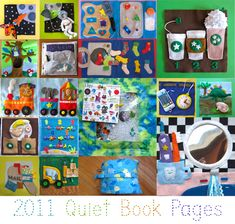 So many awesome pages (with templates/patterns) on this blog.  2011 Quiet Book Pages