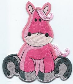 Adorable Horse Sitting Patch ironon newest design by QUILTSRUS08, $5.00