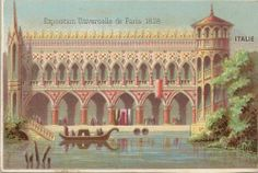 Chromo Exposition Universelle DE Paris 1878 Italie