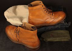 Mr. B's Blake Brogue Boots in Cognac #selfstyle