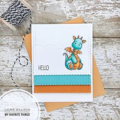 Blueprints 27 Die-namics, Magical Dragons Stamp Set and Die-namics - Laurie Willison  #mftstamps