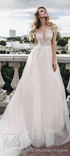 Wedding dresses from Florence Wedding Fashion 2019 - Summer Jazz Bridal Collection . - Wedding dresses from Florence Wedding Fashion 2019 – Summer Jazz Bridal Collection … # Bridal d - Wedding Dress Necklines, Wedding Gowns With Sleeves, Wedding Gown Off Shoulder, Latest Wedding Gowns, Gorgeous Wedding Dress, Elegant Wedding, Dress Wedding, Trendy Wedding, Blush Colored Wedding Dress
