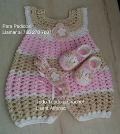 41 Best Ideas for crochet baby girl items tutorials Crochet Baby Dress Pattern, Baby Girl Crochet, Crochet Baby Clothes, Newborn Crochet, Crochet For Kids, Romper Pattern, Baby Girl Patterns, Baby Knitting Patterns, Crochet Patterns