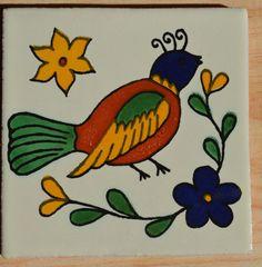6 azulejos Mexicanos pintado a mano 4x4 por MexicanTiles en Etsy                                                                                                                                                                                 Más
