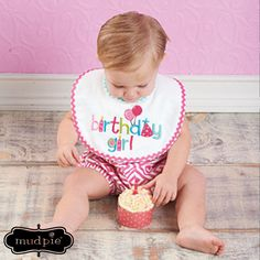 117f2ba2caa Find mud pie birthday girl bib at Birthday Direct