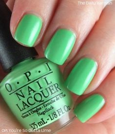OPI You're So Outta Lime Neon collection