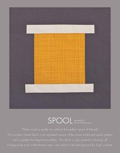 krista fleckenstein spool block from the book 99 modern blocks