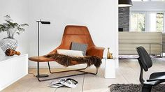 Cognac leren sofa stoel