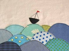 sailboat on waves quilt!  Love this idea!!!