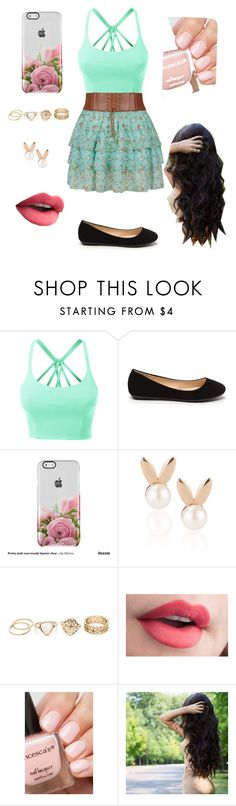 """Floral Beauty"" by laurenbrgr ❤ liked on Polyvore featuring LE3NO and Aamaya by priyanka"