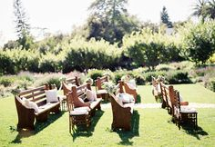 10 Unique Ceremony Seating Ideas via Project Wedding