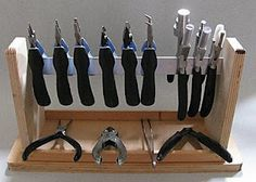 Homemade Plier Rack - maybe my hubby will make me one?
