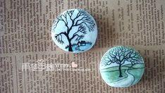 zen - beautiful turquoise landscapes painted on rocks