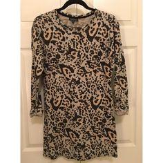 Cheetah print sweatshirt dress Comfy sweatshirt dress with cheetah print detail Topshop Dresses Long Sleeve