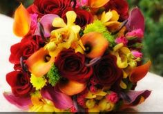 Love the colors in the bouquet. (Flowers by Jodi)