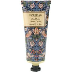 Morris & Co Strawberry Thief Hand Cream (42 BRL) ❤ liked on Polyvore featuring beauty products, bath & body products, body moisturizers, beauty, makeup, fillers, cosmetics, lotion, blue and backgrounds