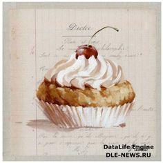 винтажные картинки для декупажа - сладости » Декупаж в России