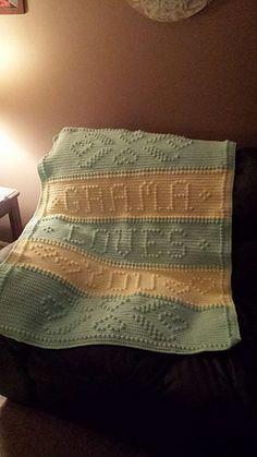 Ravelry: 5 Grandma Loves You pattern by Nancy Liggins Bobble Crochet, Crochet Afgans, Baby Afghan Crochet, Bobble Stitch, Crochet Cushions, Baby Afghans, Crochet Squares, Crochet Blanket Patterns, Filet Crochet