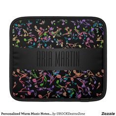 Personalized Warm #Music Notes #Black #iPad Sleeve  #zazzle