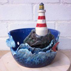 Still a big favourite! Lighthouse yarn bowl. Glazed. #yarn #yarnbowl #knitting…