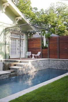 pool smallish lot - possible metal pergola would be okay instead of wood....might meet specs........
