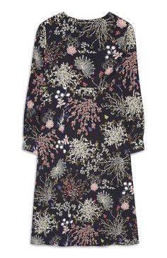 Primark - Marineblaues Kleid mit Blumenmuster