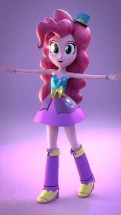 equestria girls 3d model of pinkie pie this is so cool i