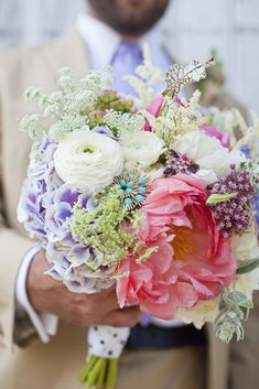 Bouquet Inspiration: Easter Spring beautiful bouquet with brooch detail via Sparkle and Hay