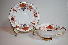 Vintage Rosina Queens Fine Bone China Teacup & Saucer Pattern #1164 England