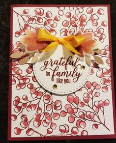 Stampin' Up! Stampin Up Paper Pumpkin, Pumpkin Cards, Stamping Up Cards, Thanksgiving Cards, Fall Cards, Homemade Cards, Paper Goods, Cardmaking, Paper Crafts